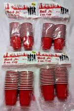 RED JR 2 OZ CUP 96 TOTAL CUPS GREAT FOR PARTIES & BEER PONG! FREE FAST SHIPPING
