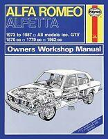 Alfa Romeo Alfettta 1973 - 1987 Haynes Repair Manual