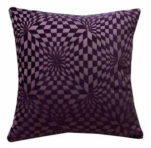 wg03a Purple Geometric 3D Check Cotton Throw Pillow Case Cushion Cover*Cust Size