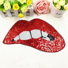 2016 Sexy Lips DIY Embroidered Patch Badge Clothes Embroidered Applique Decor CA