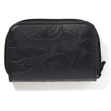 A Bathing Ape Bape head Black Card holder key Coins Bag wallet Leather