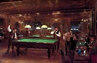 Le Billard (Billiards) by Jean Béraud. Life Art Repro choose Canvas or Paper