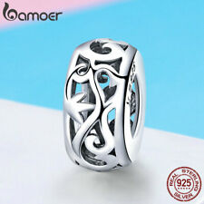 Authentic 925 Sterling Silver Sweet Charm hollow Grass pattern For women Jewelry