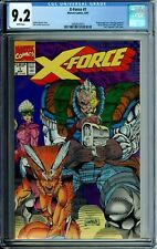 X-FORCE 1 CGC 9.2 WHITE PAGES WRAPAROUND cover NEGATIVE UPC code NEW CGC CASE