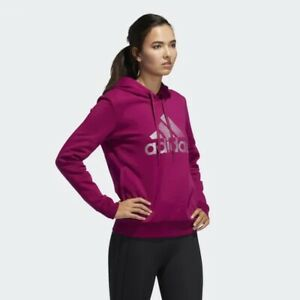 Adidas Holiday Graphic Hoodie (Women's Size S) Pullover Sweatshirt Purple