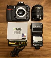 Nikon D300s 12.3 MP camera With DX 18-70mm Optical Zoom Lense And Extras.