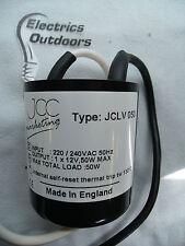JCC 12 V 50 W ILLUMINAZIONE Trasformatore 230V a bassa tensione Round