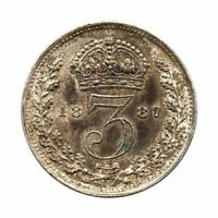 KM# 758 - Three Pence - Victoria - Great Britain 1887 (Proof or Proof-like)