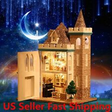 New Dollhouse Miniature DIY Kit Dolls House With Furniture Moonlight Castle US