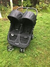 New ListingBaby Jogger City Mini Double Black/Gray Standard Double Seat Stroller