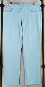 NWT $149 PETER MLLAR Size 40x34 Performance EB66 5 Pocket Blue Pants New Golf