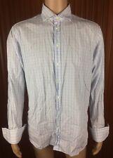 (Used) Mens Herringbone Sydney Long Sleeve Button Front Shirt Size: 43 Checks