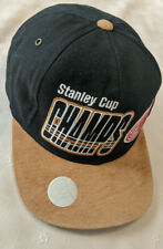 Detroit Red Wings Strapback Hat Cap 1997 Stanley Cup Champions Black Brown Tan