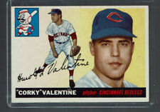 1955 Topps Harold Valentine Cincinnati Reds #44 Baseball Card