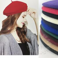 Women's Classic 100% Wool Blend Warm Soft French Beret Tam Beanie Cap Hat