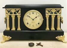 RESTORED Original Antique Sessions USA Mantel Clock #1545