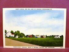 Postcard PA Carlisle Cook's Cabins PA Turnpike Route 11 Carlisle & Harrisburg #2