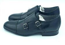 John lewis Black Mens Formal Shoes Kin Nick Double-Buckle Monk Shoes UK 7