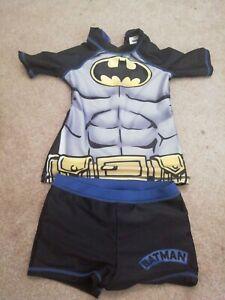 Batman Swim Suit Boys Shorts Top Sun Holiday Beach 6-7 child summer