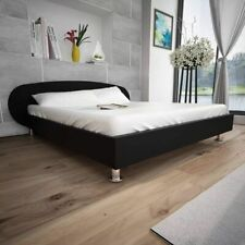 vidaXL Bedframe Modern Kunstleer Zwart 140x200 cm Ledikant Bed Frame Bedden