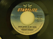 Freddy Fender 45 ROCK DOWN IN MY SHOE / YOURS ~ Starflite VG+