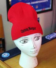 ba47e2248de0e Captain Morgan Rum Promo Winter Knit Hat NEW NOS Embroidered RED