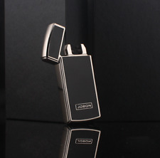 Electric Dual Arc Lighter Plasma Power Display Shake Metal Gift Rechargeable USB