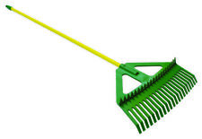 Lasher Combination Leaf Rake With Steel Handle For Gardening