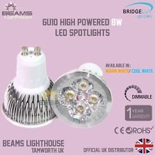 Super Bright GU10 8W DIMMABLE LED Spotlight Warm/ COOL WHITE Energy Saving UK