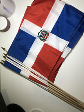 "12""x18"" Country of Dominican Republic Mini Flag Pack Of 11"