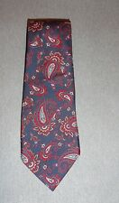 CAVALIERI NECK TIE BLUE RED AND GREEN PAISLEY 100% POLYESTER*