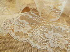 IVORY LACE 3 in.wide 4 yds/144 in. RuSTiC WeDDiNG CHiC LACE ~ NATURAL IVORY
