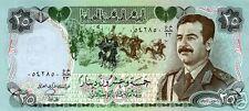 RAREST IRAQI 25 DINAR SADDAM IN MILITARY UNIFORM UNC