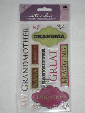 EK Success sticko 13 pc epoxy stickers - GRANDMA