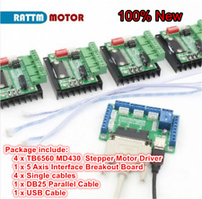 5 Axis Breakout Board+4pcs TB6560 MD430 Stepper Motor Driver CNC Controller Kit