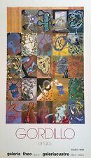 GORDILLO - CARTEL EXPOSICIÓN ORIGINAL 1983 - Medidas 64,5 x 39 cm. Aprox.