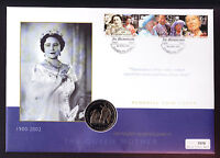 Isle of Man IOM Queen Mother Memorial Coin Cover Royalty Royal 2002 Numisbrief