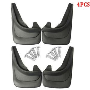 4PCS Black ABS Soft Plastic Truck Mud Flap Guards Fender For Truck RV Universal