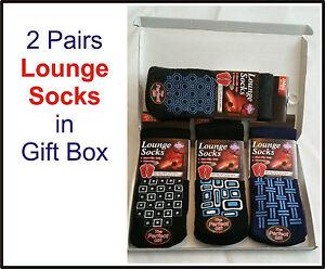 Christmas Gift Men's Non Slip Thermal Thick Gripper Lounge Socks Fleece