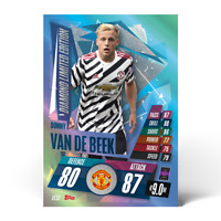 2020/21 Match Attax UEFA - Donny Van de Beek Diamond Limited Edition LE13 ManU