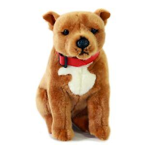 Bull Terrier Staffy Plush Soft Toy Dog 32cm Lester by Bocchetta