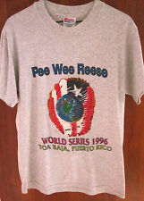 PEE WEE REESE WORLD SERIES small T shirt 1996 baseball Toa Baja tee dayglo logo