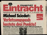 BL 80/81 Eintracht Frankfurt - Borussia Mönchengladbach, 08.11.1980 - Sziedat