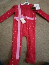 Girls Christmas Sleepsuit 12-18 Months Bnwt