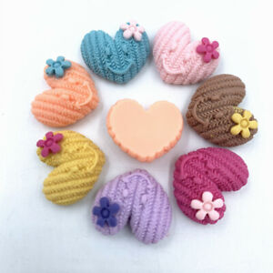 20X Smiley Resin flower Love heart Flatback Cabachons decoration Accessorie 18mm