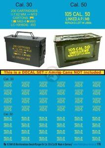 Peddinghaus 1/16 .30 Cal M19A1 Ammo Can & .50 Cal M2 Ammo Box Markings WWII 3940