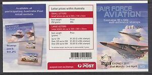 Australia 2011 Air Force Aviation Gen Booklet ($6.00) O/PT - B481a(2)