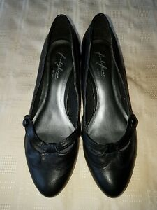 LADIES FOOTGLOVE BLACK FAUX LEATHER SIZE UK5.5 NICE PAIR OF SHOES
