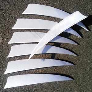 "3"" 4"" 5"" Archery Arrow Feather Natural Fletching Turkey Fletches Bow Arrow White"