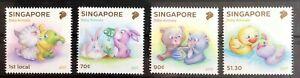 Singapur 2017 Satz Singapore Jungtiere Baby Animal Bär Ente Katze Hund Cartoon